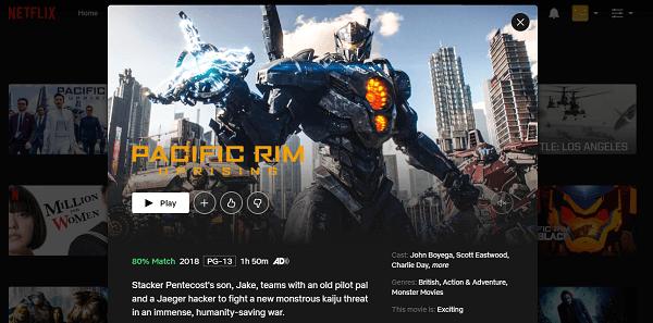 Watch Pacific Rim - Uprising (2018) on Netflix 3