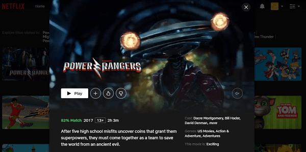 Watch Power Rangers (2017) on Netflix 3