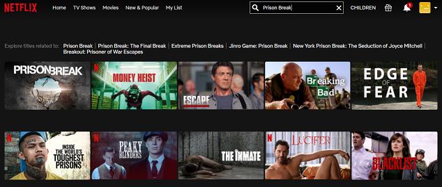 Watch Prison Break all seasons on Netflix 2