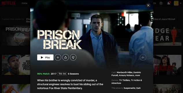 Watch Prison Break all seasons on Netflix 3