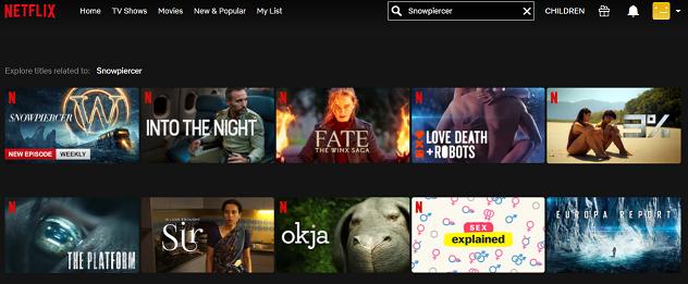 Watch Snowpiercer (2013) on Netflix 1