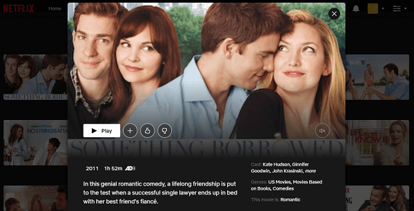 Watch Something Borrowed (2011) on Netflix 3