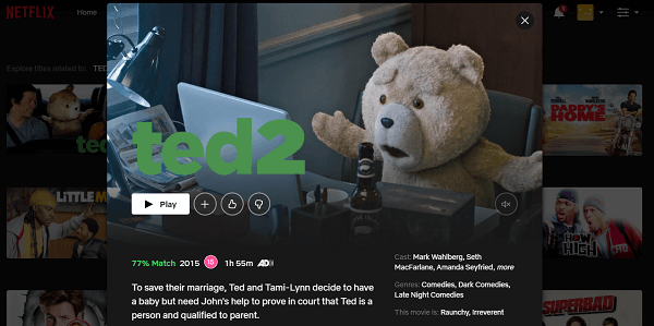 Watch Ted 2 (2015) on Netflix 3