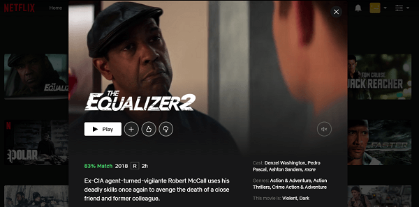 Watch The Equalizer 2 (2018) on Netflix 3