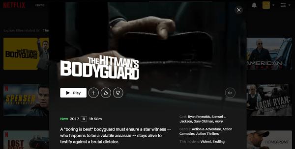 Watch The Hitman's Bodyguard (2015) on Netflix 3
