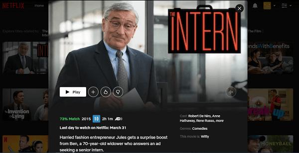 Watch The Intern (2015) on Netflix 3