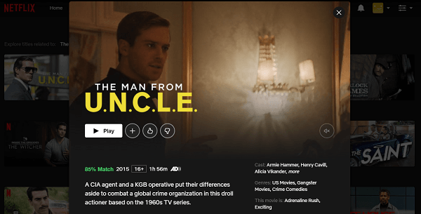 Watch The Man from U.N.C.L.E. (2015) on Netflix 3