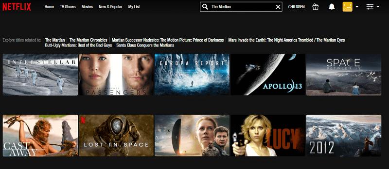 Watch The Martian (2015) on Netflix 1
