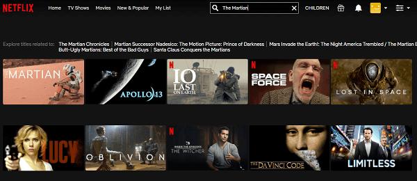 Watch The Martian (2015) on Netflix 2