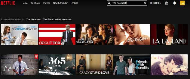 Watch The Notebook (2004) on Netflix 1