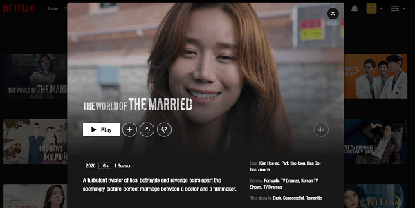 Watch The World of the Married (2020) on Netflix 3