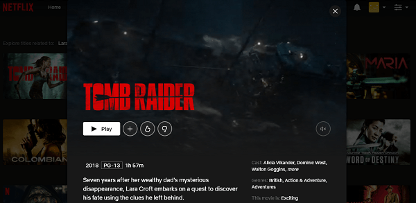 Watch Tomb Raider (2018) on Netflix 3