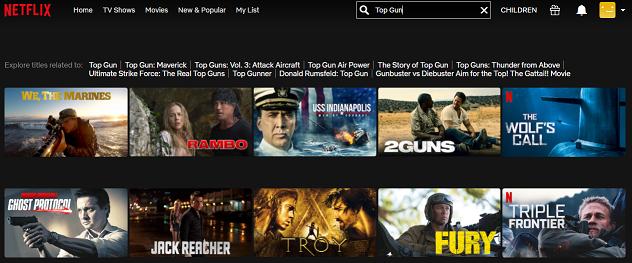 Watch Top Gun (1986) on Netflix 1