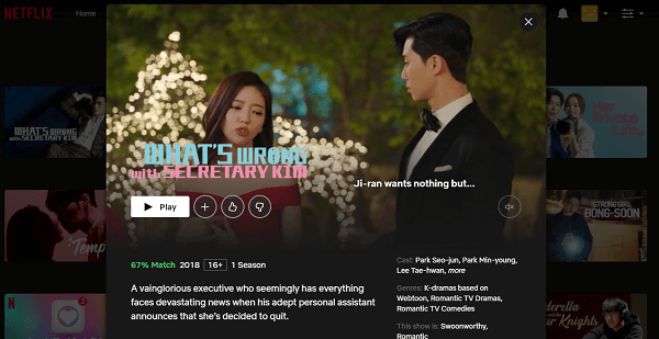 Watch What's Wrong with Secretary Kim on Netflix 3