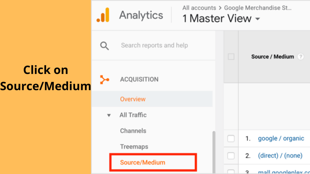 Step 2 In lead Source Google Analytics