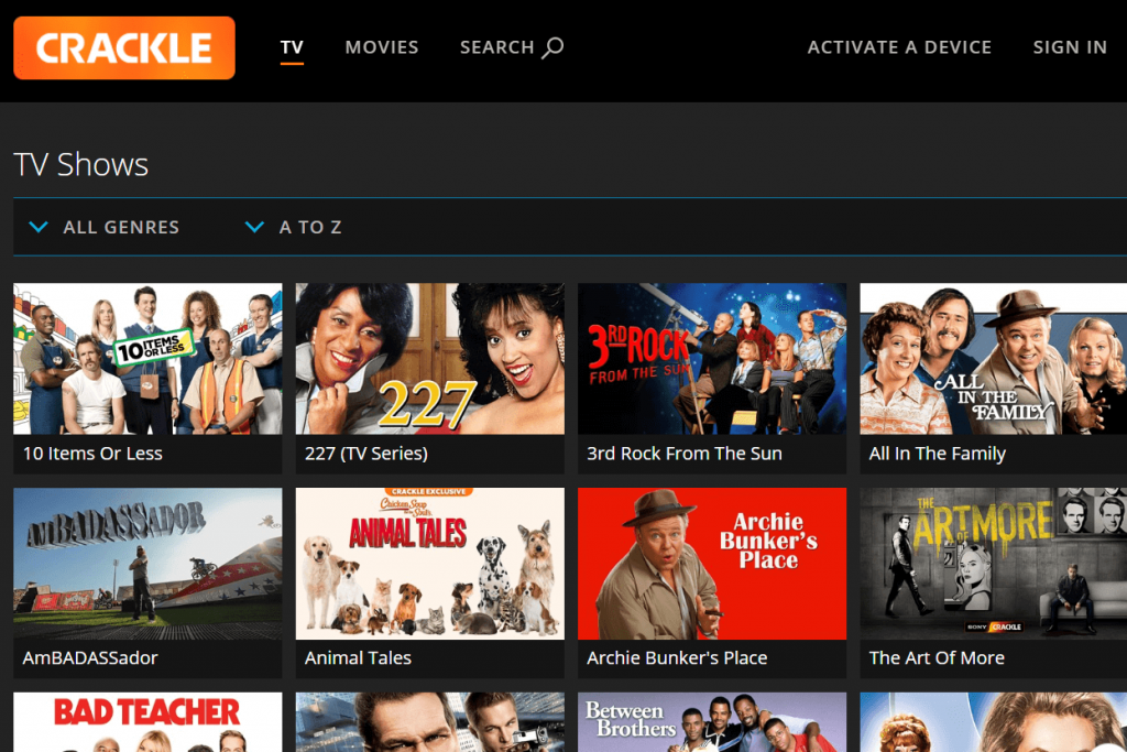 crackle free streaming site