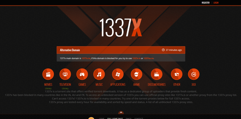 1377x Torrent Site for Movies & TV Shows