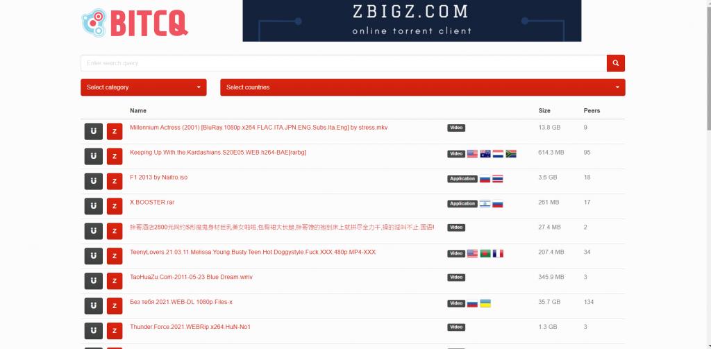 BITCQ A Torrent Search Engine