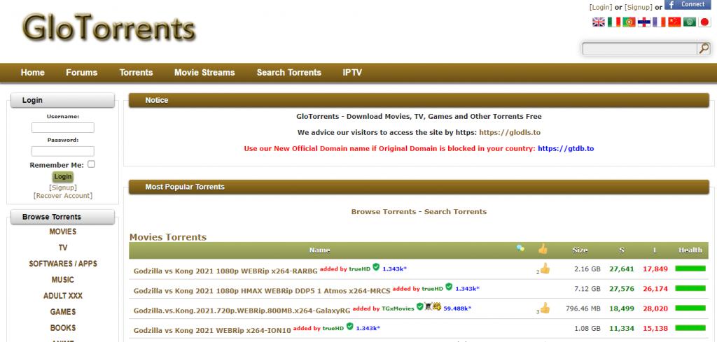 GloTorrent Official Site