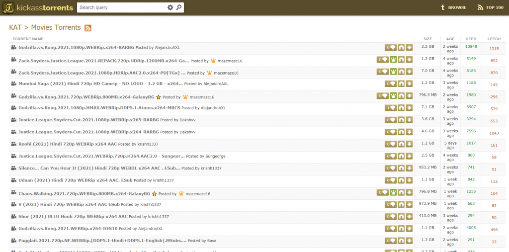 Kickass Torrents Torrent Site for Movies & TV Shows