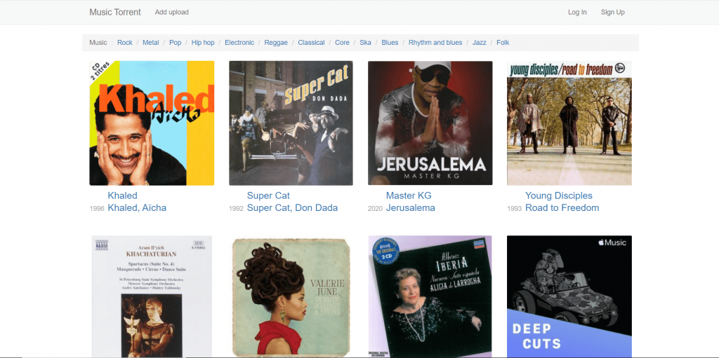 Music Torrent A Music Torrent Site