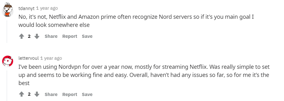 Reddit Review NordVPN for Streaming