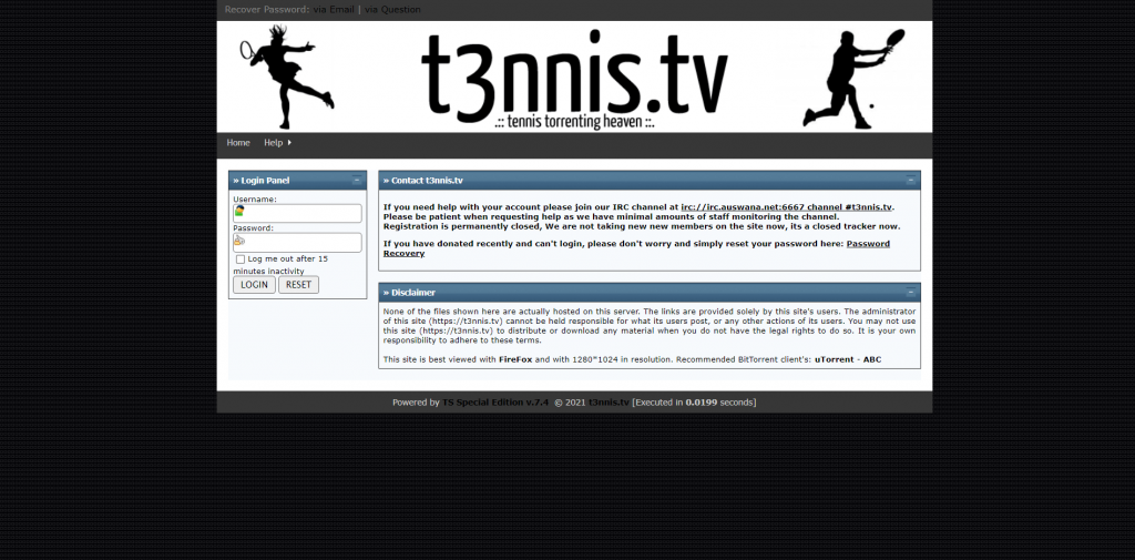 T3nnis A Sports Torrent Site
