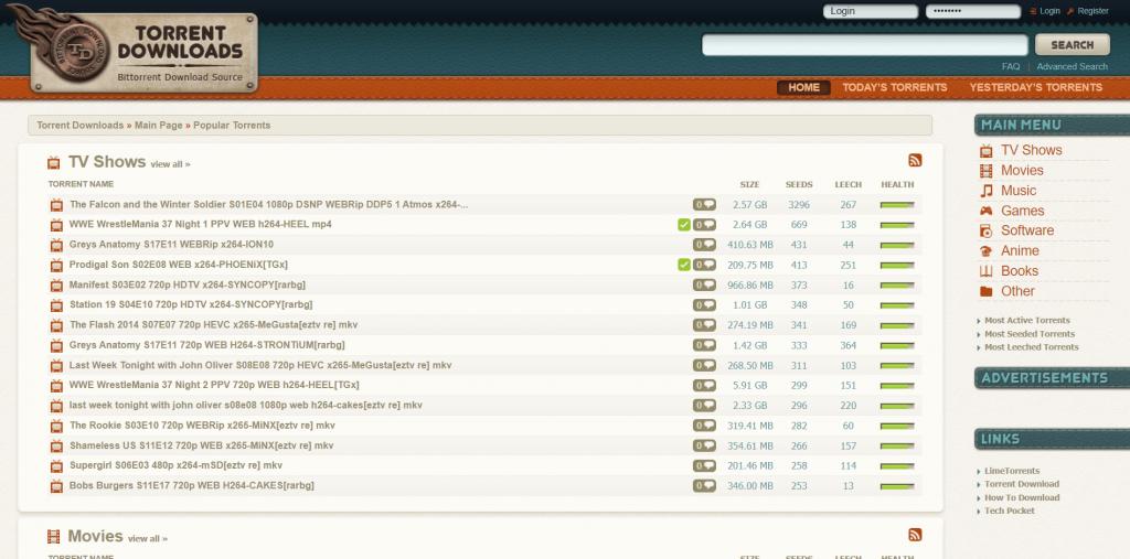 TorrentDownloads Torrent Site for Movies & TV Shows