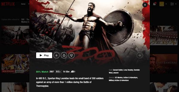 Watch 300 (2006) on Netflix 3