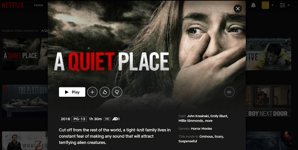 Watch A Quiet Place (2018) on Netflix 3