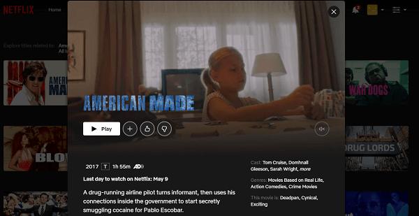 Watch American Made (2017) on Netflix 3