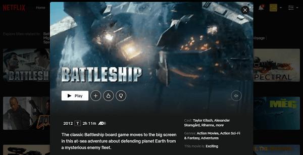 Watch Battleship (2012) on Netflix 3