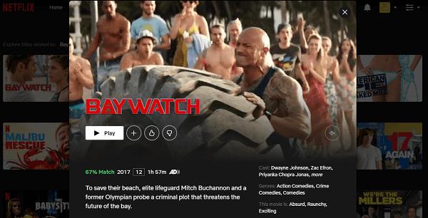 Watch Baywatch (2017) on Netflix 3