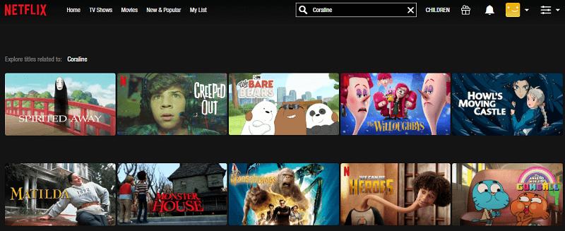 Watch Coraline (2009) on Netflix 1