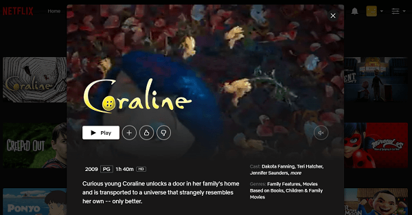 Watch Coraline (2009) on Netflix 3