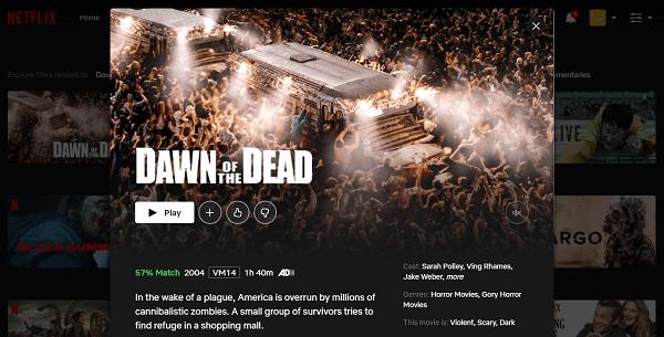 Watch Dawn of the Dead (2004) on Netflix 3