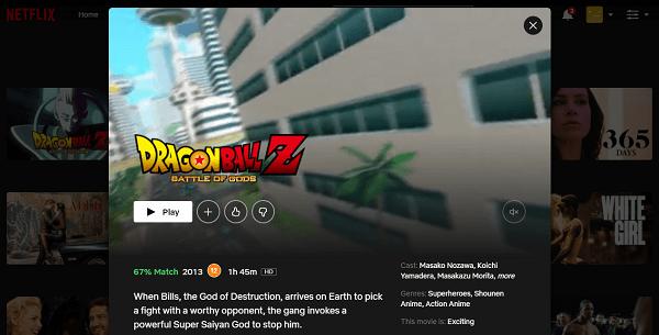 Watch Dragon Ball Z - Battle of Gods on Netflix 3