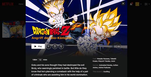 Watch Dragon Ball Z - Bio-Broly on Netflix 2