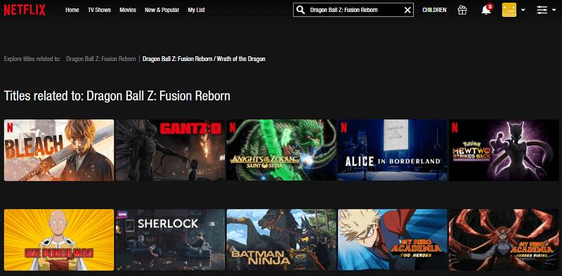 Watch Dragon Ball Z - Fusion Reborn on Netflix 1