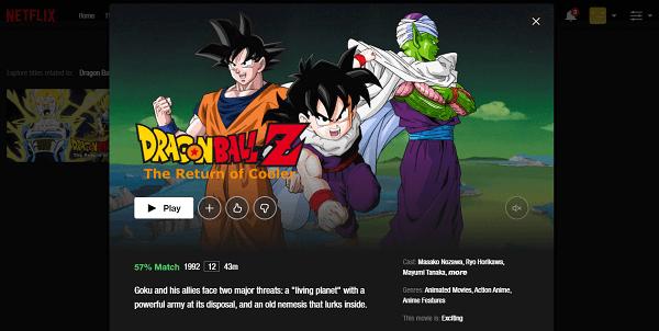 Watch Dragon Ball Z - The Return of Cooler on Netflix 3