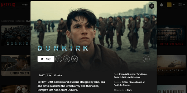 Watch Dunkirk (2017) on Netflix 3