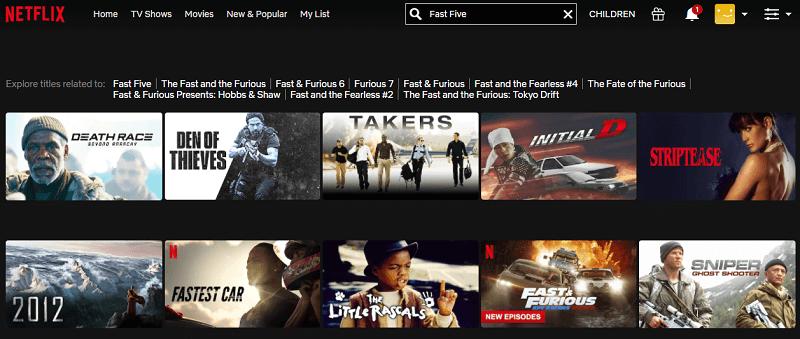 Watch Fast Five (2011) on Netflix 1