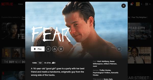 Watch Fear (1996) on Netflix 3