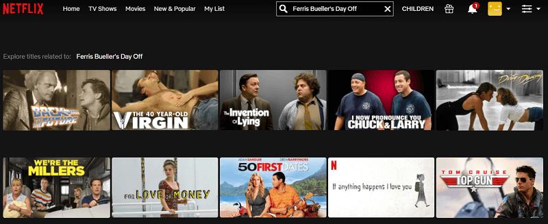 Watch Ferris Bueller's Day Off (1986) on Netflix 1