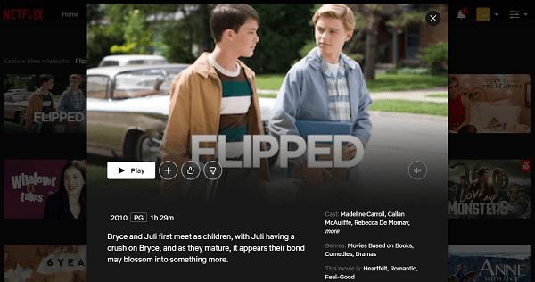 Watch Flipped (2010) on Netflix 3