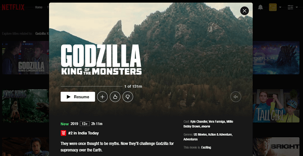 Watch Godzilla - King of the Monsters (2019) on Netflix 3