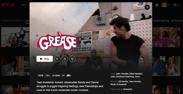 Watch Grease (1978) on Netflix 3