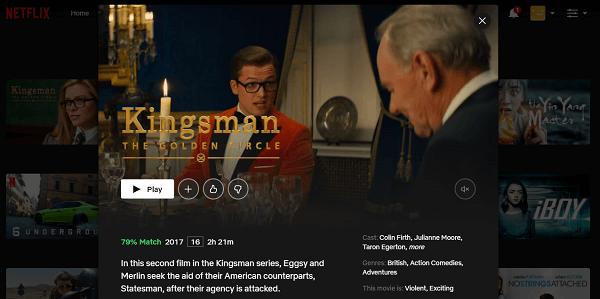 Watch Kingsman - The Golden Circle (2017) on Netflix 3