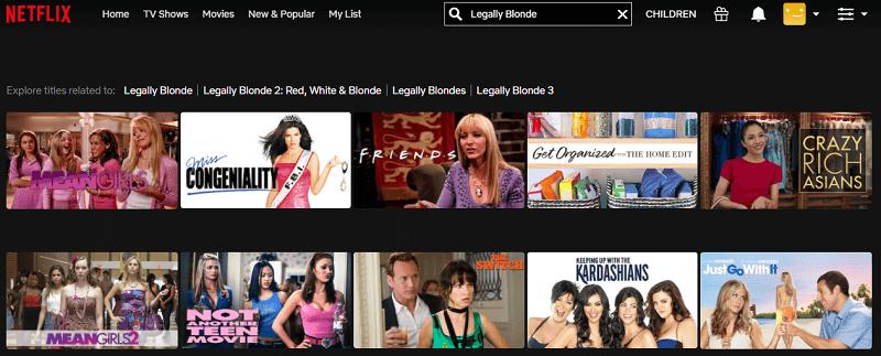 Watch Legally Blonde (2001) on Netflix 1