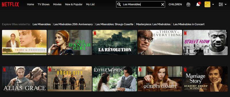 Watch Les Miserables (2012) on Netflix 1